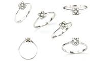 Anillo de plata con diamantes