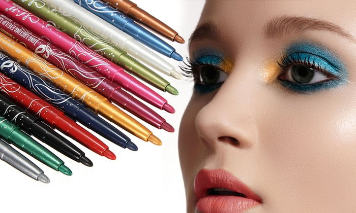One or Two 12-Colour Makeup Pencil Sets from £3.99
