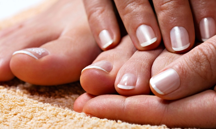 Parlour on the Avenue - Multiple Locations: Petite Mani-Pedi with French Polish on Fingers or Toes at Parlour on the Avenue ($55 Value)