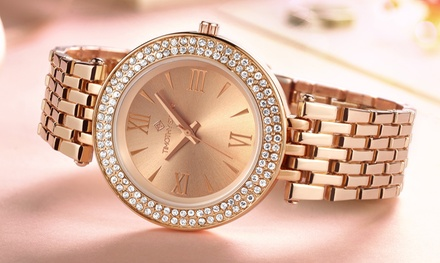 Timothy Stone Women's Burst Stainless Watch with Crystals from Swarovski® for €24.90 With Free Delivery (83% Off)