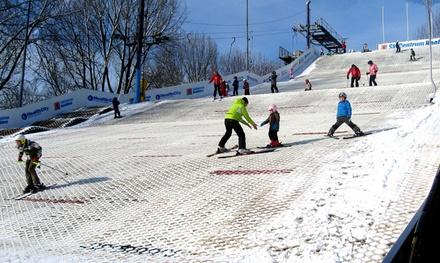 1 uur indoor/outdoor ski of snowboardles bij SkiCentrum Hoofddorp