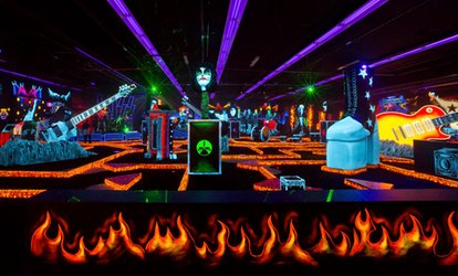 image for Four Passes for Indoor Glow-In-The-Dark Rockin' <strong>Mini Golf</strong> at KISS by Monster <strong>Mini Golf</strong> (Up to 50% Off)