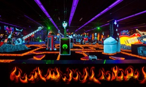 Four Passes for Indoor Glow-In-The-Dark Rockin' Mini Golf at KISS by Monster Mini Golf (50% Off)