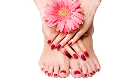 Manicure and Pedicure with Option of Shellac at Lavish Hair Professionals (Half Off)