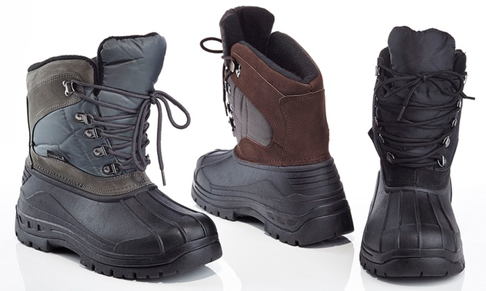 Clearance: Snow Tec Men's Snow Boots (Sizes 8, 9,13) | Groupon