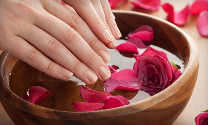 Royal Beauty - Norwell: One or Three Spa Manicures with Masks, Paraffin Treatments, and Hot Stones at Royal Beauty (Up to 54% Off)