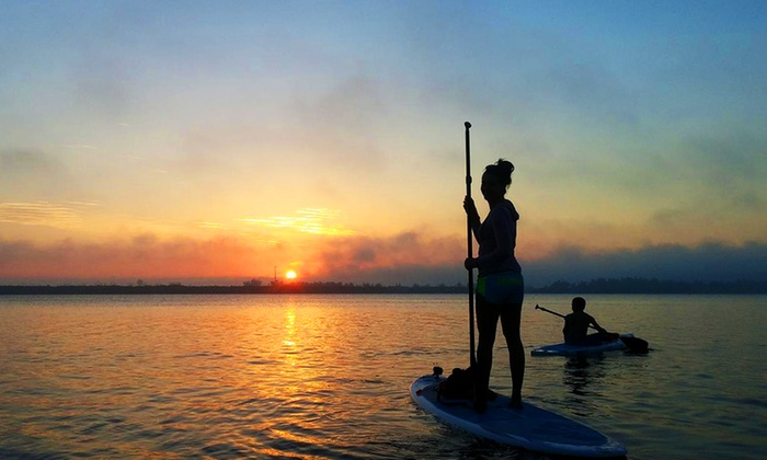 Island Paddle - Grant-Valkaria: Half-Day Paddleboard Rental for 2 or 4 or a Motorized Kayak Adventure Tour from Island Paddle (Up to 51% Off)