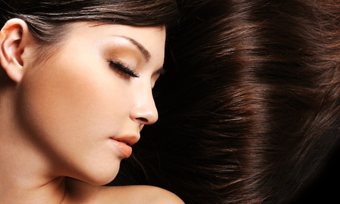 Ultimate Hair Nails & Spa - River Grove: Keratin Smoothing Treatment or Express Blowout at Ultimate Hair & Nails Spa (Up to 50% Off)