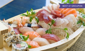 Arigato Japanese Restaurant: Sushi and Japanese Cuisine, or Dinner for Two at Arigato Japanese Restaurant (Up to 56% Off)