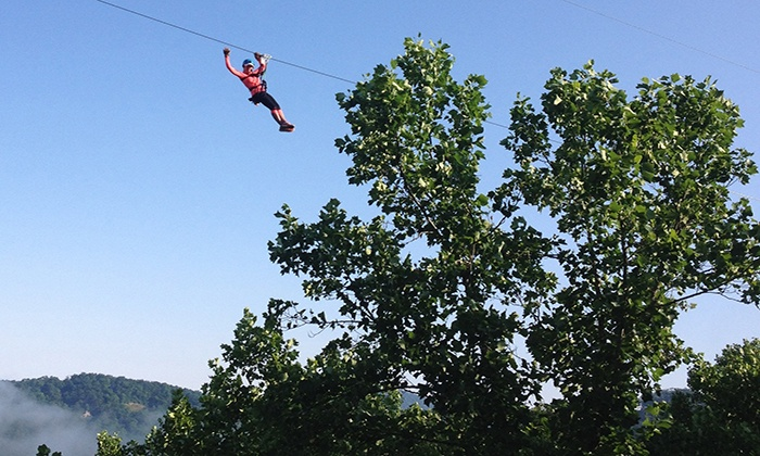 Highlands Aerial Park - Flats: Zip-Line Tour at Highlands Aerial Park