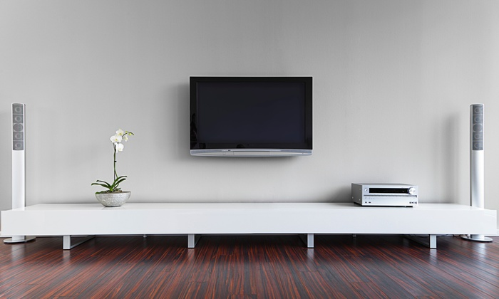 TV Wall-Mount Installation - All Wires Hidden | Groupon