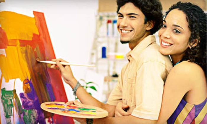 Uncork'd Art - Multiple Locations: Group Acrylic-Painting Class for One or Two, or Private Party for Up to 15 at Uncork'd Art (Up to 51% Off)