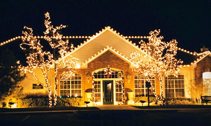 Soap Slingers - lansing: $299 for a Holiday-Lights Installation Package for a One- or Two-Story Home from Soap Slingers ($1,075 Value)