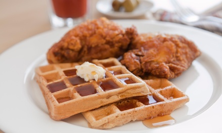 $39 for a Chicken and Waffle Dinner for Two with Sangria or Mojitos at Pink Tea Cup ($61 Value)