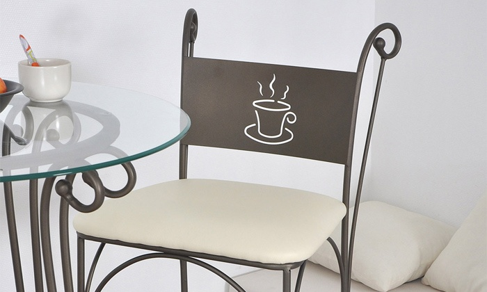 table et chaises caf groupon shopping. Black Bedroom Furniture Sets. Home Design Ideas
