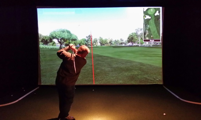 Tee Box Indoor Golf - Haisley: Two or Four Hours of Simulator Golf for Two with Optional Pizza at Tee Box Indoor Golf (Up to 50% Off)