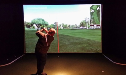 Two or Four Hours of Simulator Golf for Two with Optional Pizza at Tee Box Indoor Golf (Up to 50% Off)