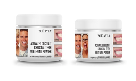 Zoë Ayla Coconut-Activated Charcoal Teeth Whitening Powder