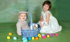 MotoPhoto: $35 for an Easter Family-Portrait Package with Live Bunnies Prints and a CD at MotoPhoto ($175 Value)