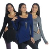 3-Pack of Free to Live Women's Asymmetrical Tops
