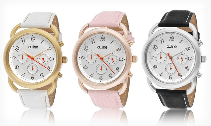 a_line Women's Maya Watches: a_line Women's Maya Leather Watches (Up to 90% Off). Five Options Available. Free Shipping and Free Returns.
