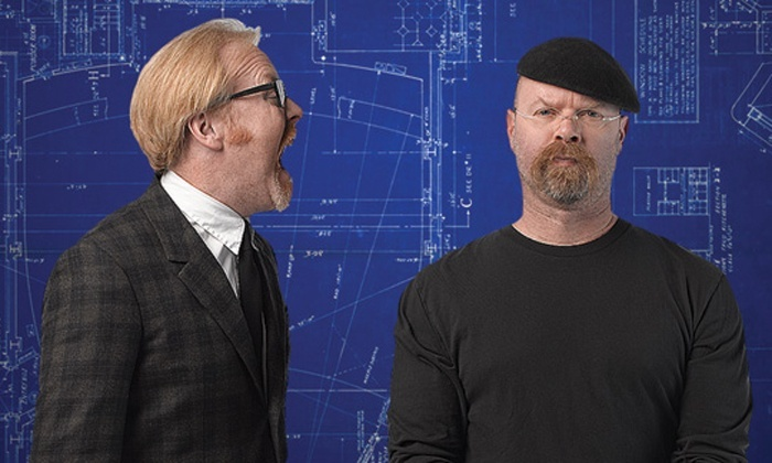 """Budweiser Events Center - Budweiser Events Center: """"MythBusters: Jamie & Adam Unleashed"""" at Budweiser Events Center on April 12 (Up to 48% Off)"""