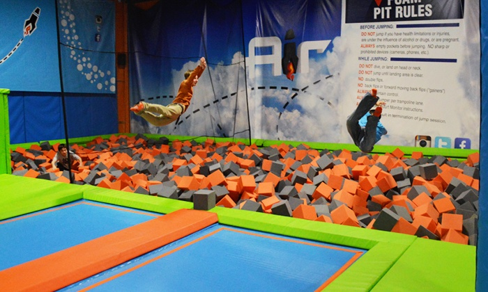 Air Trampoline Sports - Air Trampoline Sports : One-Hour Open-Jump Session for Two or Four at Air Trampoline Sports (Up to 45% Off)