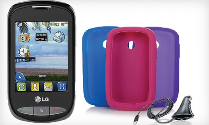 Tracfone Prepaid Smartphone Bundle: $99 for a Tracfone LG800G Smartphone with 1,200 Minutes, Triple Minutes for Life, Year of Service, Gel Skins, and a Charger ($229.96 List Price)