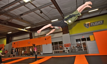 $18 for a One-Hour Jump for Two, Valid Monday–Thursday at Flight Trampoline Park ($28 Value)