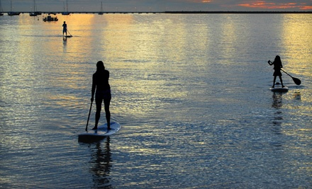 Standup-Paddleboard Rental or Lesson for One or Two at Malibu Paddle Surf in Santa Monica (Up to 60% Off)