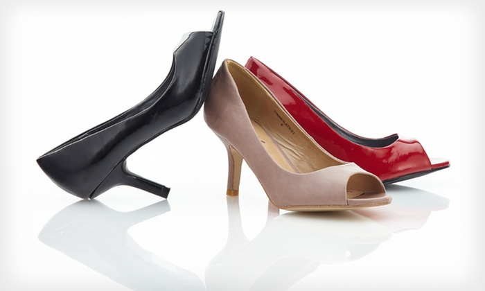 GoMax Peep-Toe Pumps: $24.99 for GoMax Peep-Toe Pumps ($49.99 List Price). Six Colors Available. Free Shipping and Returns.