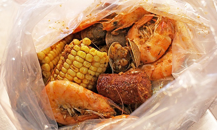 Amazing Crab - Berkeley: $25 for Two Pounds of Shrimp and Two Appetizers at Amazing Crab (Up to $38 Value)