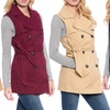 Women's Double-Breasted Belted Dress Vest