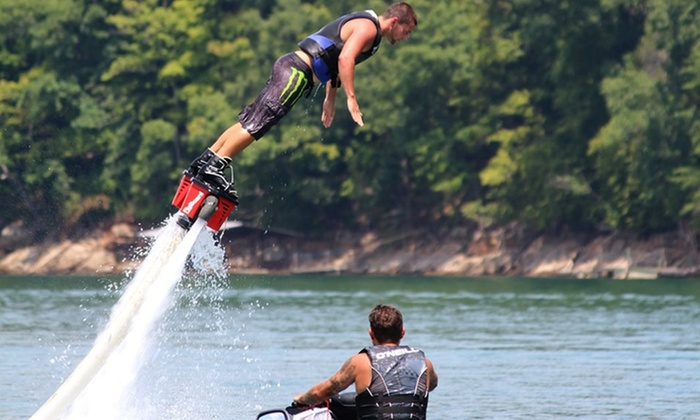 TN FLYBOARD - Multiple Locations: Flyboarding Session with Go-Pro Recording for Two or Four at Tennessee Flyboard (Up to 46% Off)