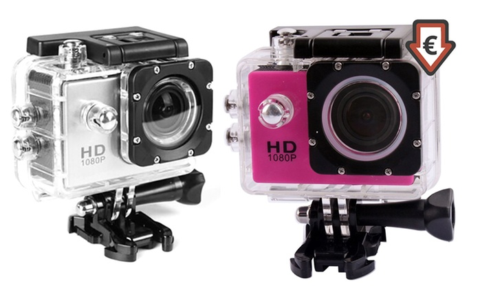 AdventurePro Water-Resistant HD1080p Sports Camera for €24.99 With Free Delivery (Up to 73% Off)