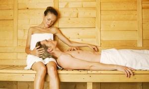 Cazha: Privésaunavoor 2 personen met optionele duomassage en extra kortingen vanaf € 54,99 bij Cazha