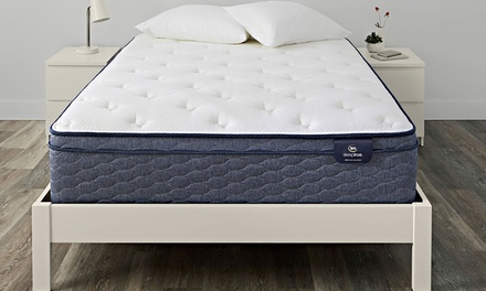 "Serta SleepTrue 13"" Alverson II Euro Top Plush Mattress and Box Spring"