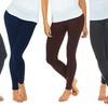 Women's Plus Size Fleece-Lined Leggings (4-Pack)