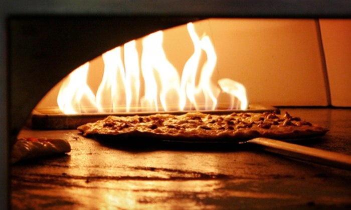 Saverio's Stone Fire Bistro - Middle Village: $10 for $20 Worth of Italian Cuisine and Two Soft Drinks at Saverio's Stone Fire Bistro ($25 Value)