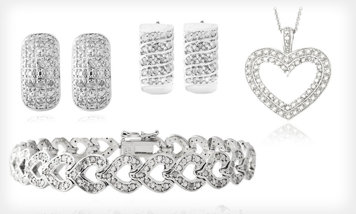 Diamond Jewelry: Diamond Earrings, Bracelets, and Necklaces (Up to 83% Off). Five Styles Available. Free Shipping.