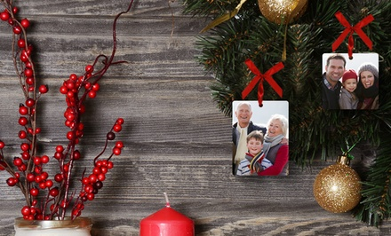 2, 3, 5, or 10 Customized Ceramic or Metal Ornaments from Picture it on Canvas (Up to 88% Off)