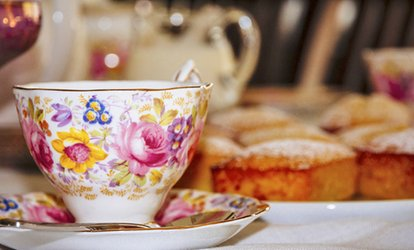 Organic Tea, Paninis, Scones, Desserts at Garden Tea Lounge (42% Off). Two Options Available.