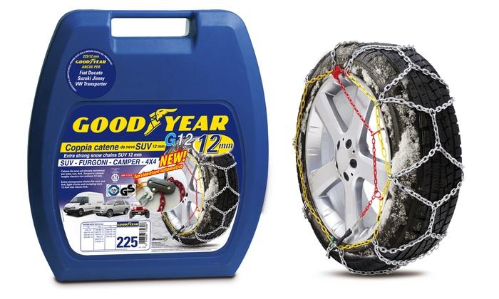 Goodyear 77931 Catene neve 12 mm per SUV camper e 4x4 misura 227 furgoni