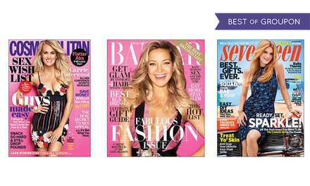 1Year Subscription to Hearst Women's Fashion Magazines; Choose from Cosmopolitan, ELLE, Harper's BAZAAR, and More