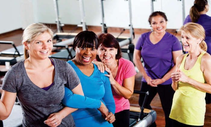 Get in Shape For Women - Charlotte - Ballantyne Commons East Shopping Center: Small Group Fitness-Training Packages at Get In Shape For Women (Up to 72% Off). Two Options Available.