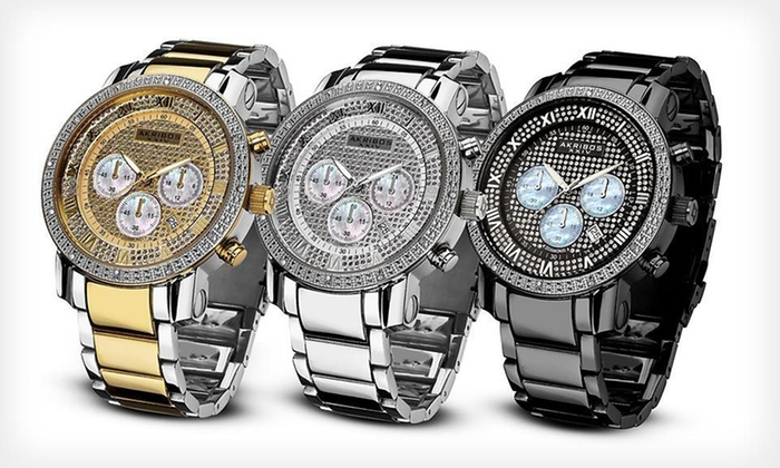 Akribos XXIV Men's and Ladies' Diamond Quartz Watches: Akribos XXIV Men's and Women's Watches (Up to 91% Off). 16 Styles Available. Free Shipping and Free Returns.
