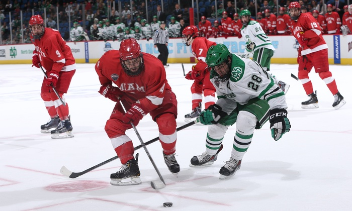 NCHC Frozen Faceoff - Target Center: $20 for One Ticket to a Session of the NCHC College Hockey Tournament at Target Center on March 20 or 21 ($42.81 Value)