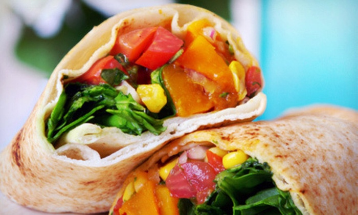 Wrap City - Downtown: $6 for Two Organic Wraps and Two Drinks at Wrap City ($13 Value)