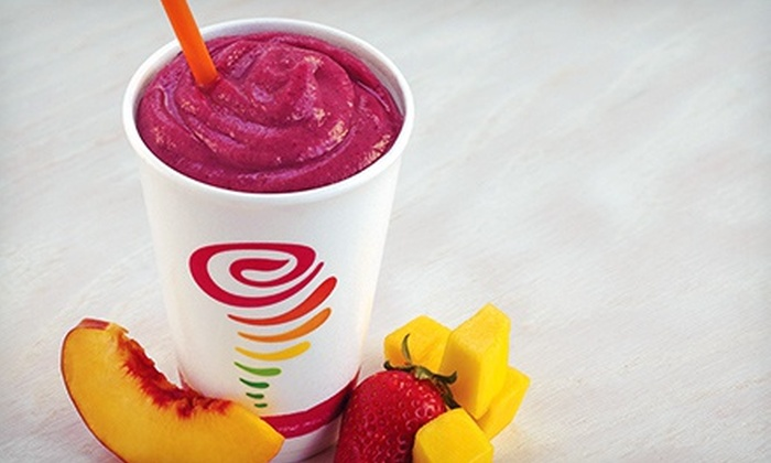 Jamba Juice - Multiple Locations: Jamba Juice–$6 for 2Medium-Sized Classic orCreamy Treats Smoothies(Up to$10.78 Value)
