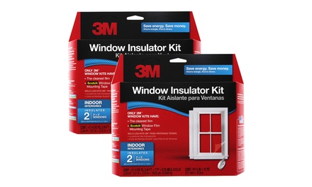 3M Window Insulator Kit with Scotch Window Film Tape (2-Pack)